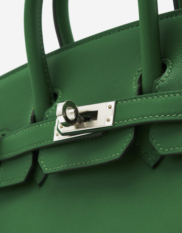 A pre-loved Hermès Birkin 25 Swift Cactus on SACLÀB