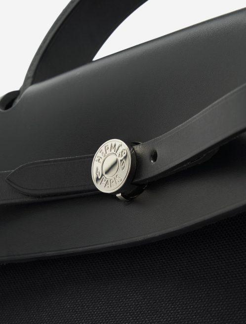 Hermès Herbag 39 Vache Hunter / Toile Militaire Black