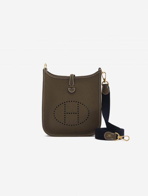 Hermès Evelyne 16 Amazone Etoupe / Bleu Indigo Brown, Natural  | Sell your designer bag on Saclab.com