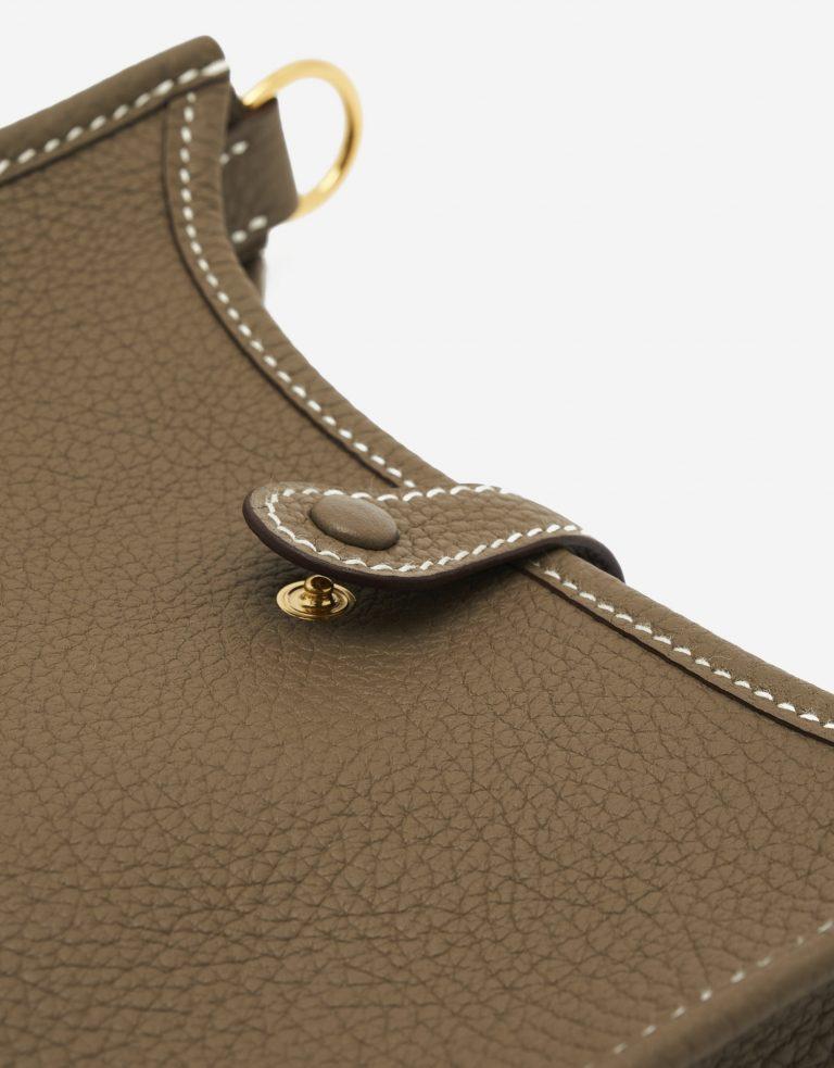 A pre-loved Hermès Evelyne 16 Amazone Etoupe / Bleu Indigo on SACLÀB