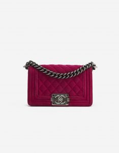 Chanel Boy Small Velvet Pink
