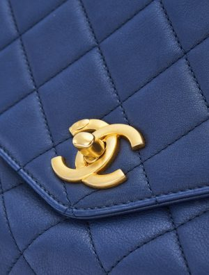 Chanel Handle Medium Lamb Blue
