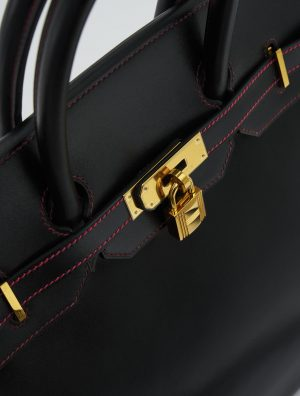 Hermès Birkin 35 Box Black / Rouge H