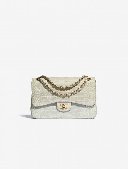 Chanel Timeless Jumbo pre-loved Flap Bag Grey SACLÀB