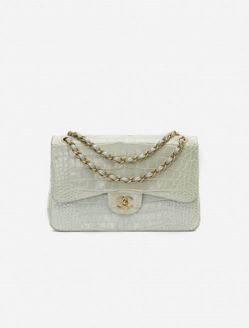 Chanel Timeless Jumbo Alligator Grey Gray  | Sell your designer bag on Saclab.com