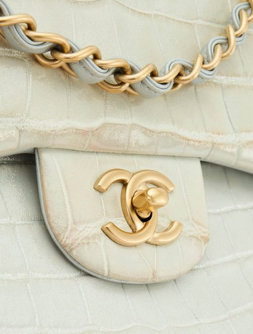 Chanel Timeless Jumbo Alligator Grey
