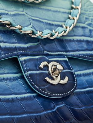 Chanel Timeless Jumbo Alligator Blue