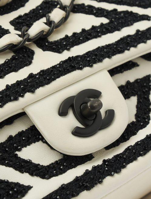 Chanel Timeless Medium Lamb White/Black