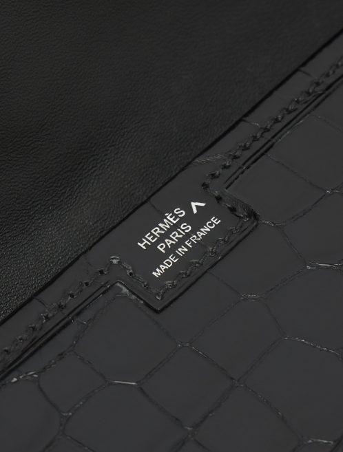 Hermès Jig Elan Crocodile Porosus Black