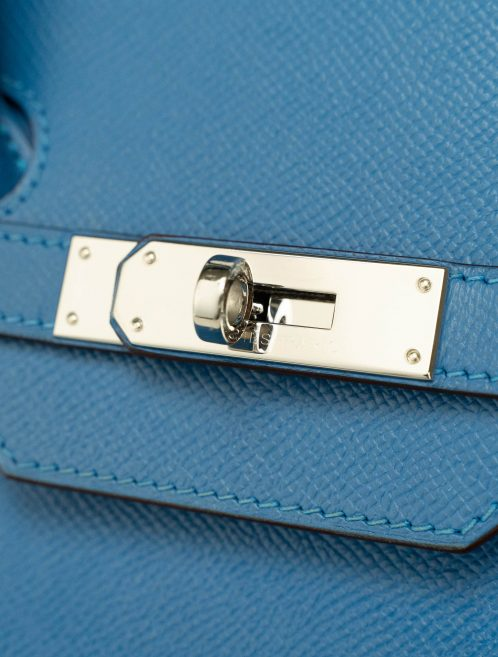Hermès Birkin 35 Epsom Bleu Mykonos Blue  | Sell your designer bag on Saclab.com