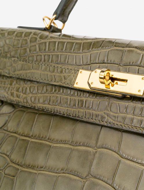 Hermès Kelly 32 Matte Alligator Vert Veronese