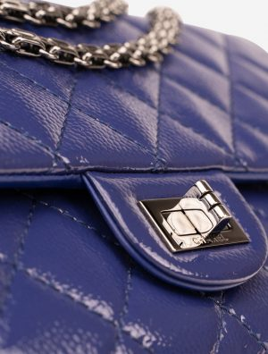 Chanel 2.55 226 Patent Caviar Blue