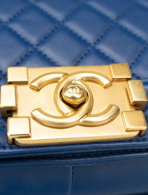 Chanel Boy Medium Lamb Blue Blue  | Sell your designer bag on Saclab.com