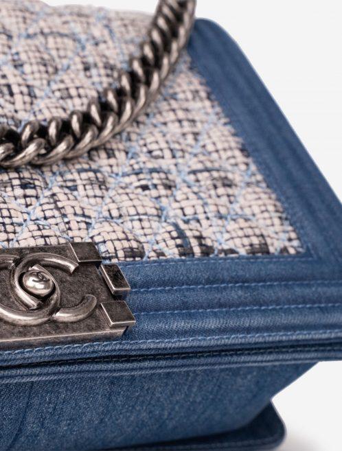 Chanel Boy Medium Tweed / Denim Blue