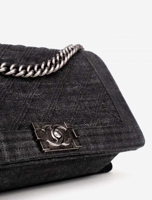 Chanel Boy Medium Denim Dark Blue / Gray