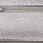 Chanel Boy WOC Caviar Silver