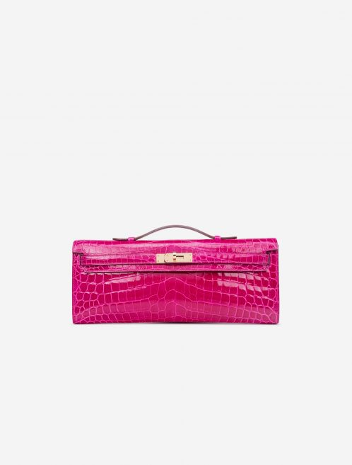 Hermès Kelly Cut Clutch Niloticus Crocodile Rose Scheherazade