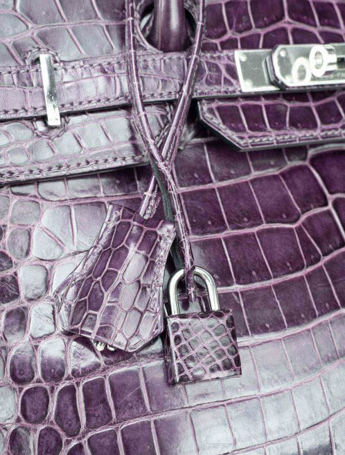 Hermès Birkin 35 Porosus Crocodile Amethyst