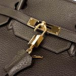 Hermès Birkin 40 Taurillon Clemence Vert Bronze