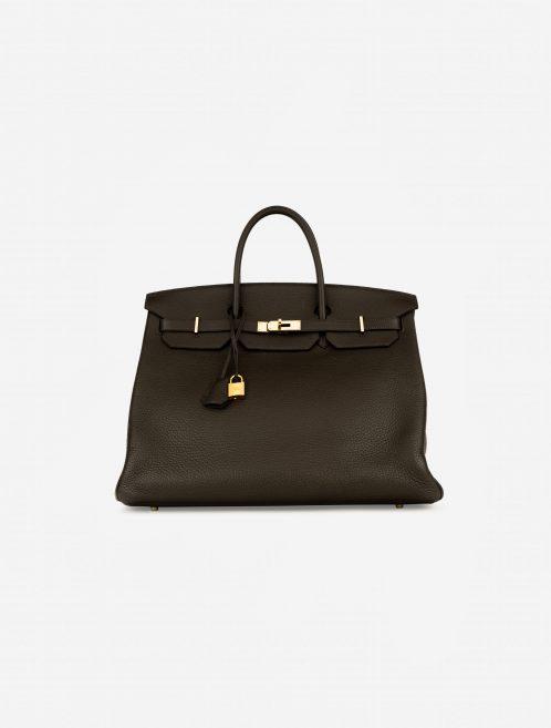 Hermès Birkin 40 Taurillon Clemence Vert Bronze Brown, Green  | Sell your designer bag on Saclab.com
