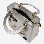 Dior Lady Medium Calf Silver Metallic, Silver    Sell your designer bag on Saclab.com