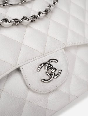 Chanel Timeless Jumbo Caviar White