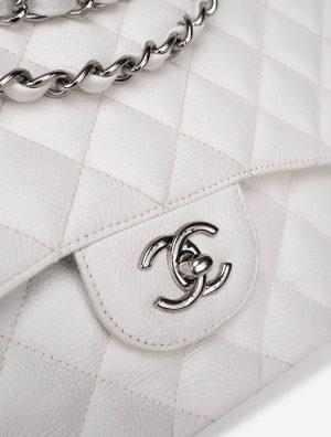 Chanel Timeless Jumbo Caviar White