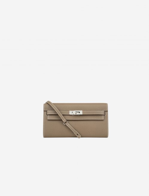 Hermès Kelly To Go Epsom Etoupe Brown, Gray  | Sell your designer bag on Saclab.com