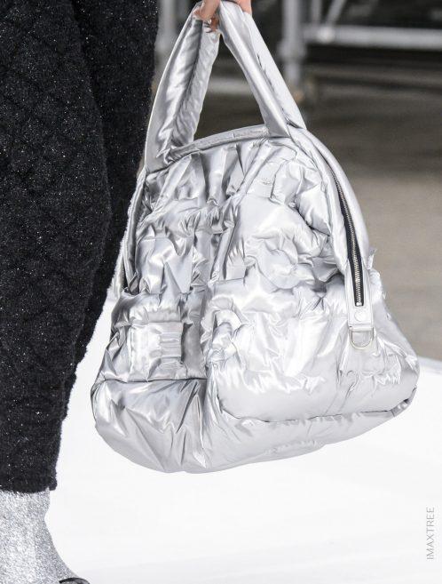 Chanel Shopper XXL Nylon Silver Metallic, Silver  | Sell your designer bag on Saclab.com