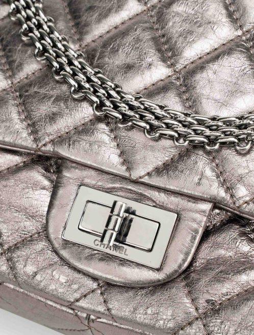 Chanel 2.55 227 Lamb Silver