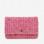 Chanel Timeless WOC Tweed Pink Multicolour, Pink  | Sell your designer bag on Saclab.com