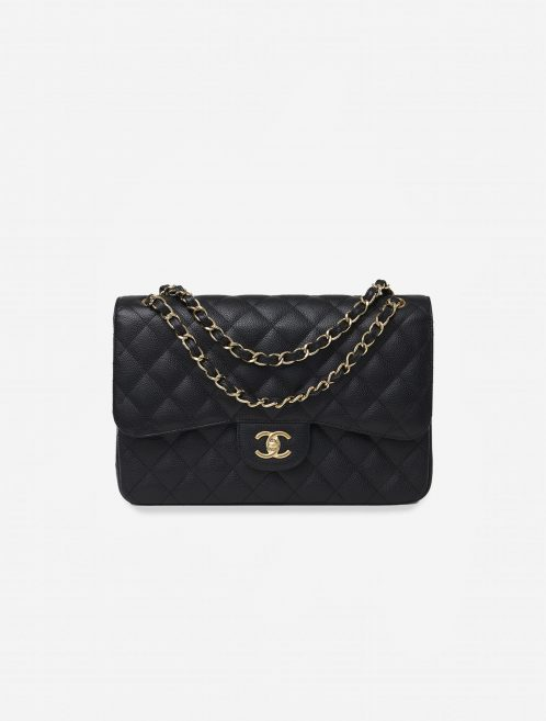Chanel Timeless Jumbo Caviar Black Black  | Sell your designer bag on Saclab.com