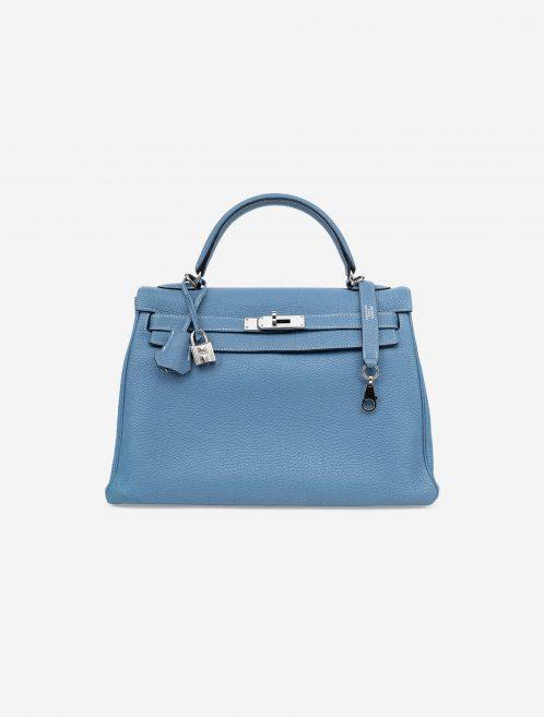 Hermès Kelly 32 Togo Blue Jean Blue  | Sell your designer bag on Saclab.com