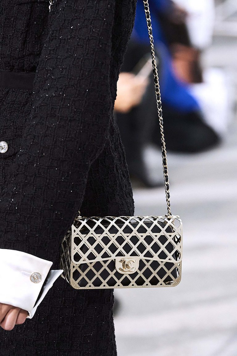 Chanel SS21 metal woven Timeless Classic bag