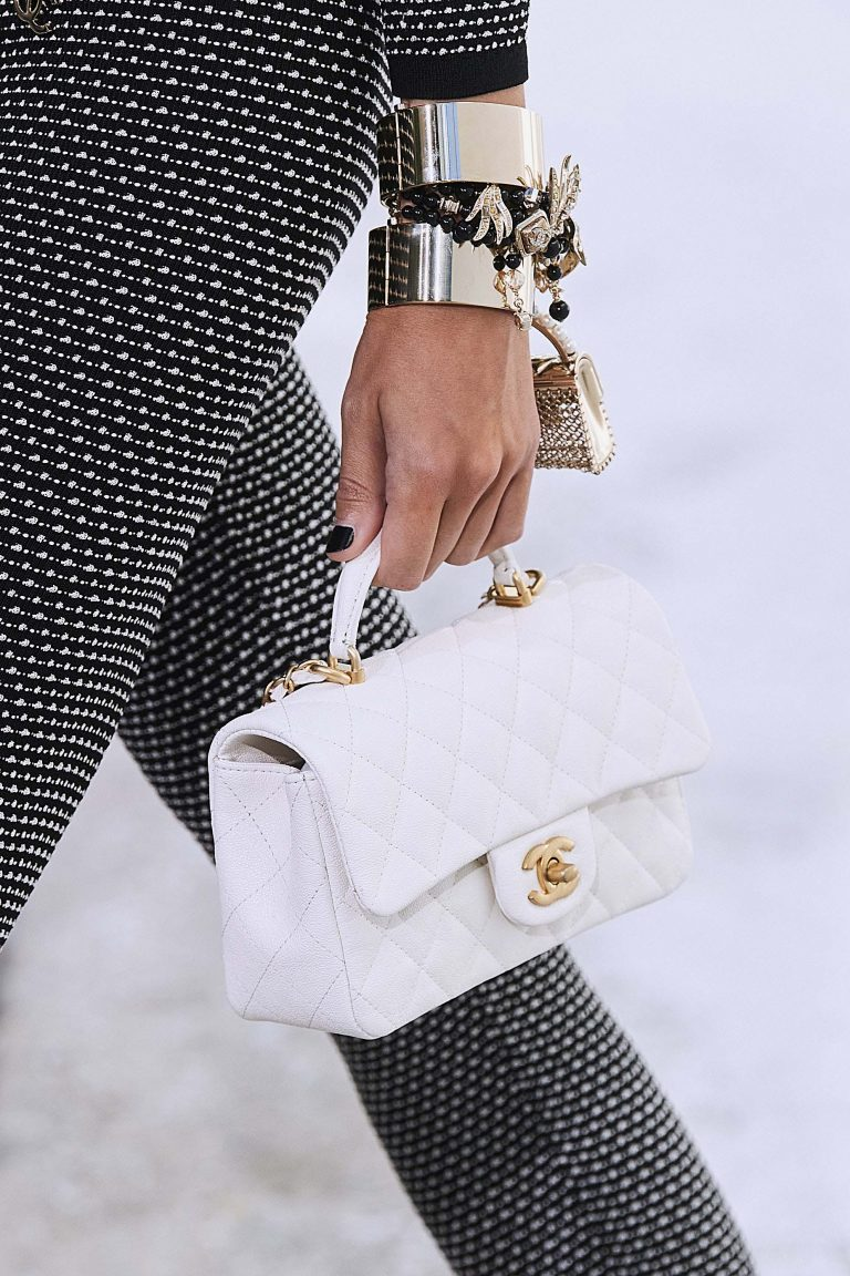 Chanel Spring Summer 2021 white Top Handle Bag