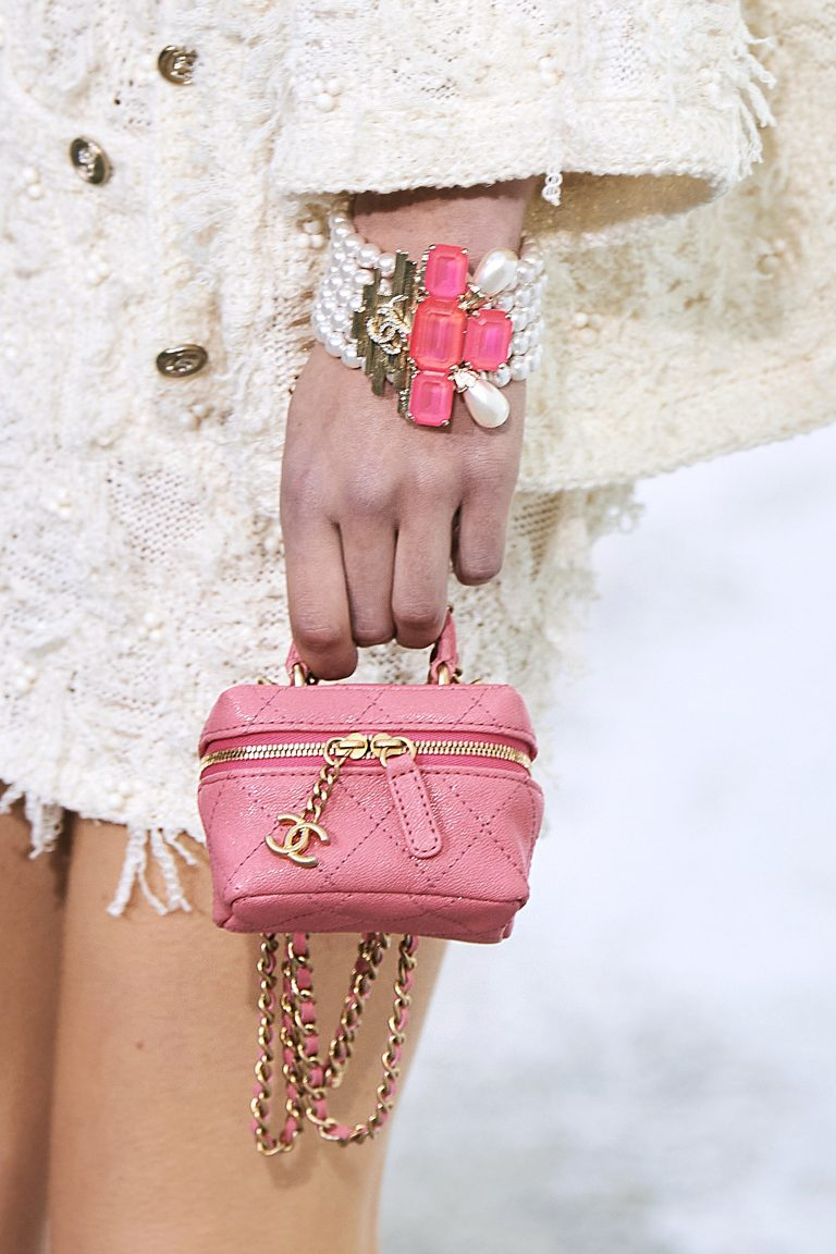 Chanel Spring Summer 2021 micro pink bag