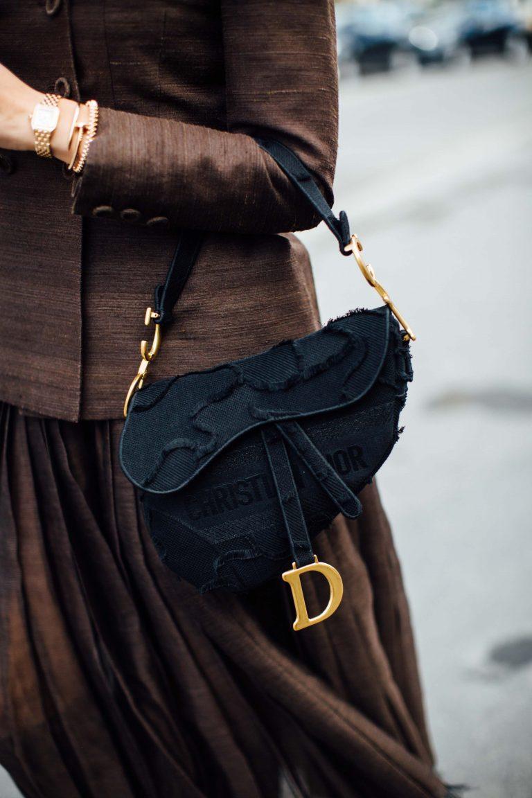 Dior Streetstyle with Saddle Bag