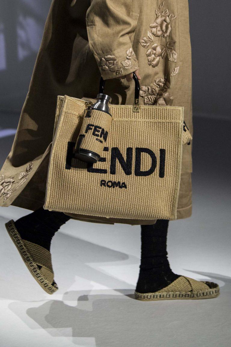 Fendi Spring Summer 2021 tote bag with bottle holder