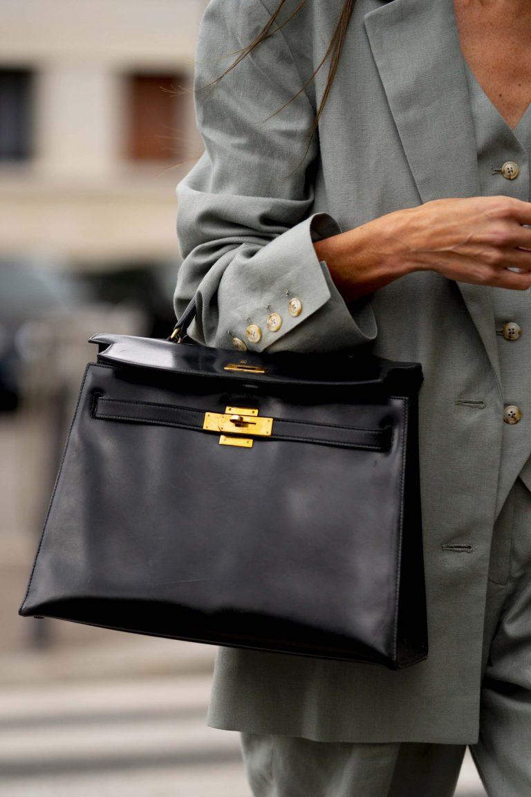Streetstyle Vintage Kelly Bag in Paris