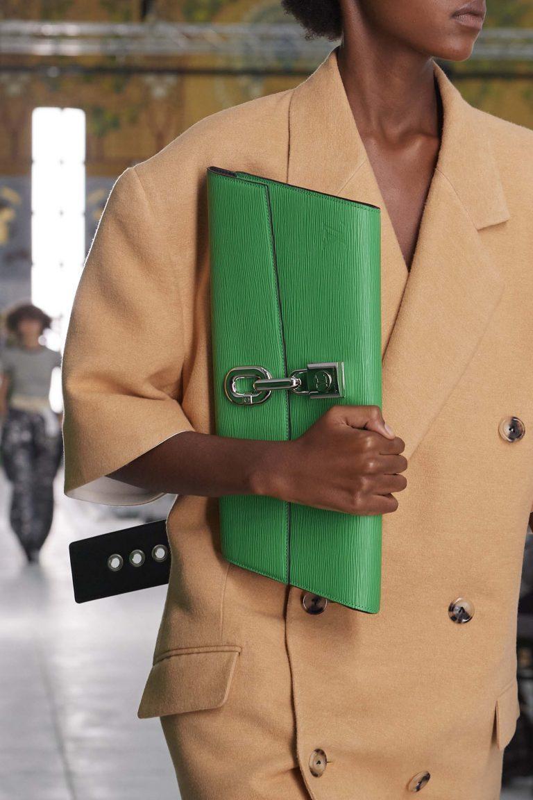 Louis Vuitton green clutch spring summer 2021