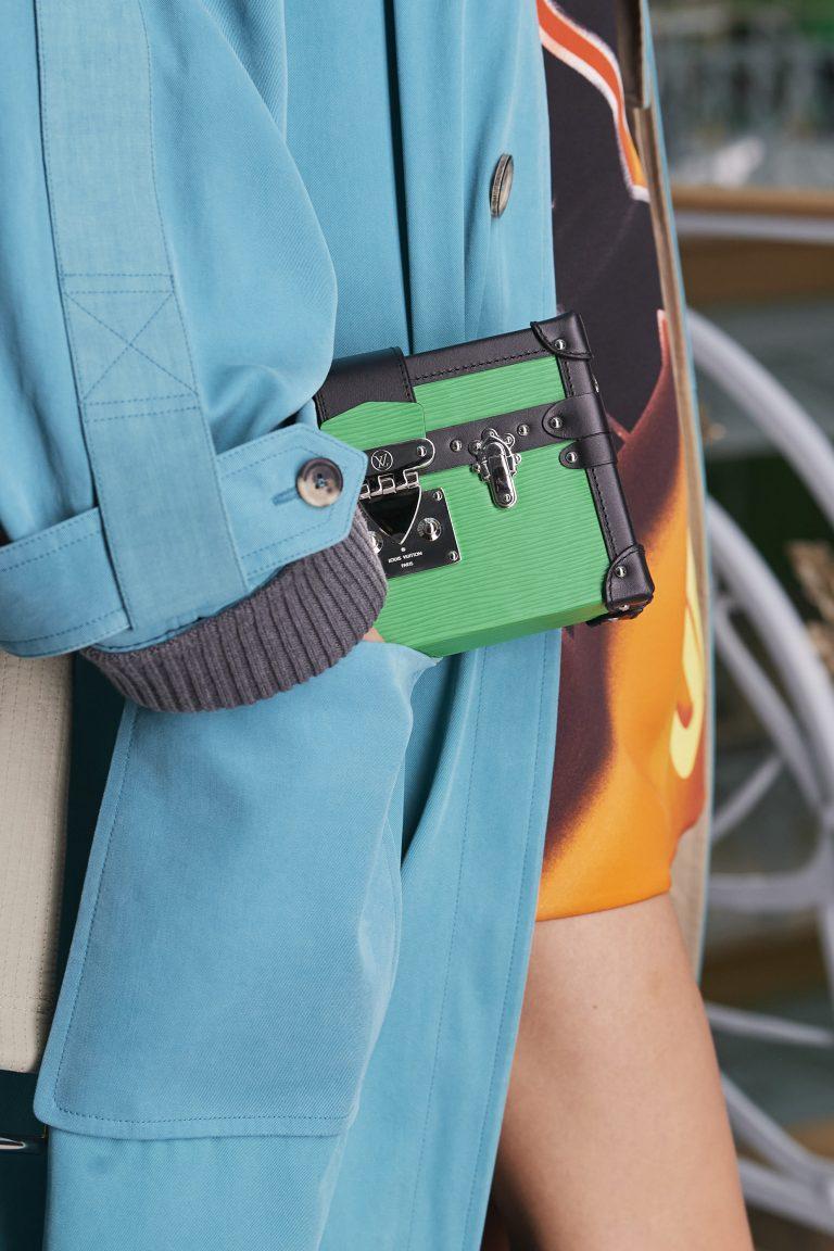 Louis Vuitton green clutch bag SS21