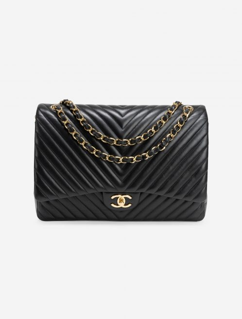 Chanel Timeless Maxi Lamb Chevron Black