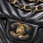 Chanel Timeless Maxi Lamb Chevron Black