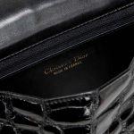 Dior Shoulder Bag Small Crocodile Black