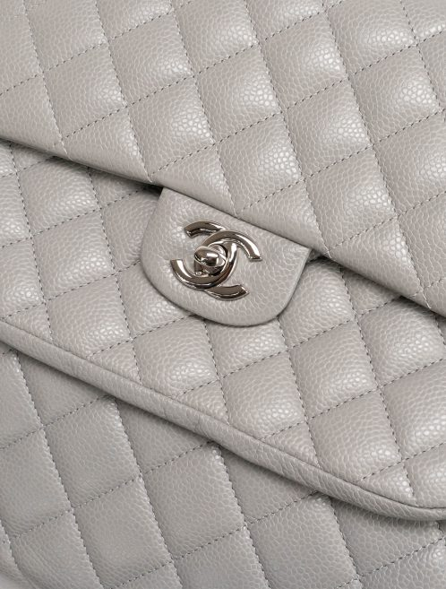 Chanel Timeless Shopper Caviar Grey Gray  | Sell your designer bag on Saclab.com