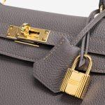 Hermès Kelly 25 Togo Etain Gray  | Sell your designer bag on Saclab.com