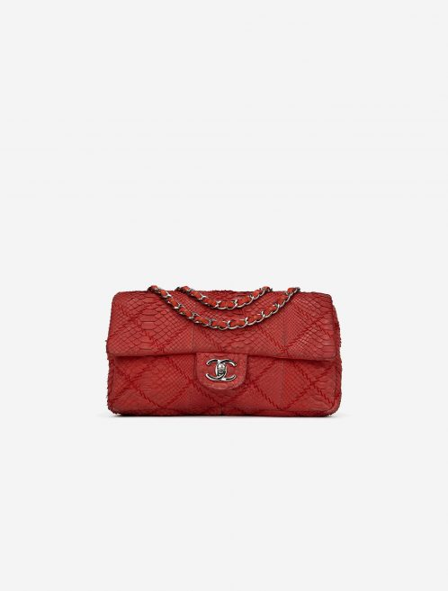 Chanel Timeless Medium Python Red