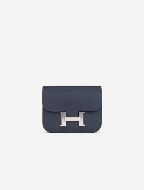Hermès Constance Portefeuille Slim Evercolor Blue Nuit