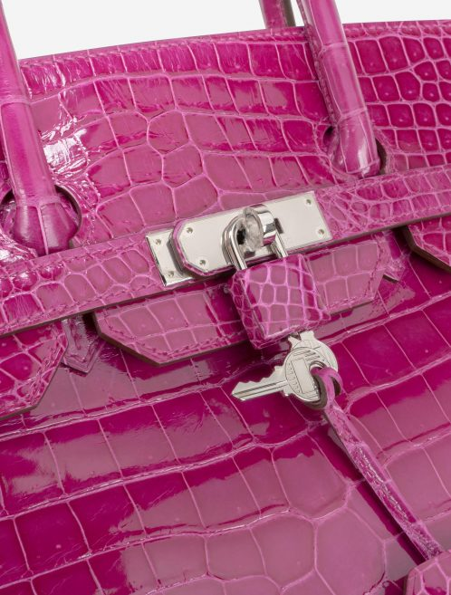 Hermès Birkin 35 Porosus Crocodile Rose Scheherazade
