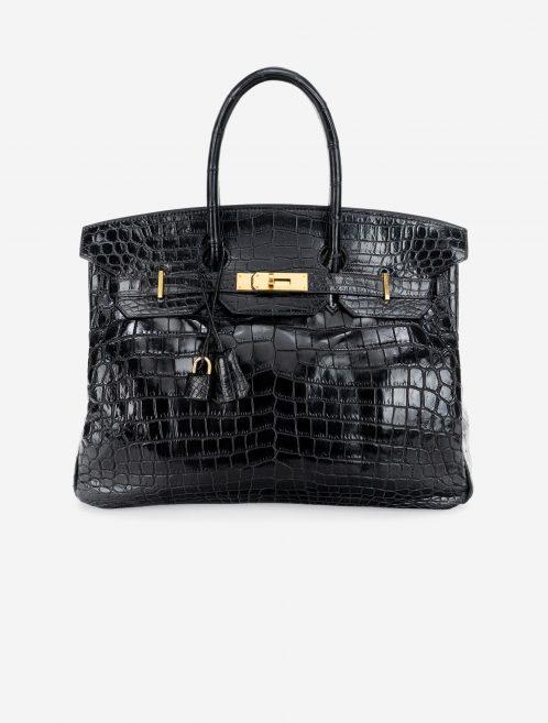 Hermès Birkin 35 Niloticus Crocodile Black Black  | Sell your designer bag on Saclab.com